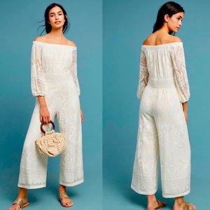 🔥 HP 🔥 Anthropologie Farm Rio Jumpsuit M